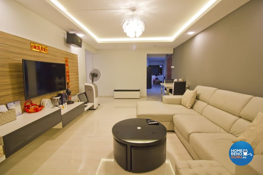 Modern Design - Living Room - HDB 5 Room - Design by Met Interior
