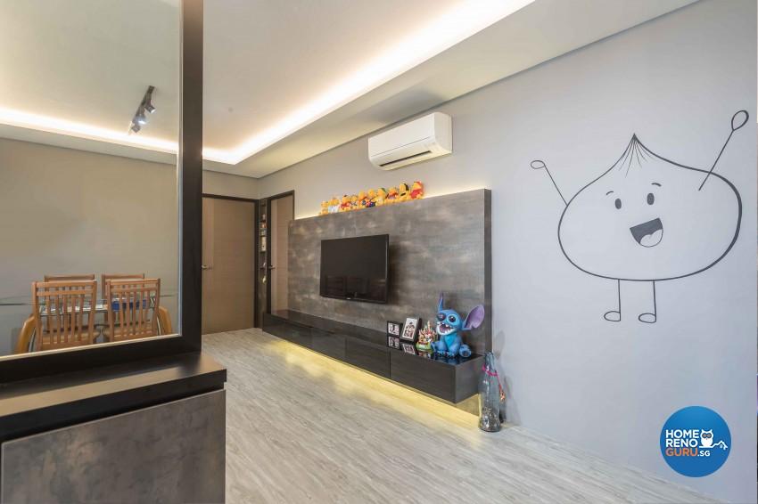 Modern Design - Living Room - HDB 4 Room - Design by Met Interior