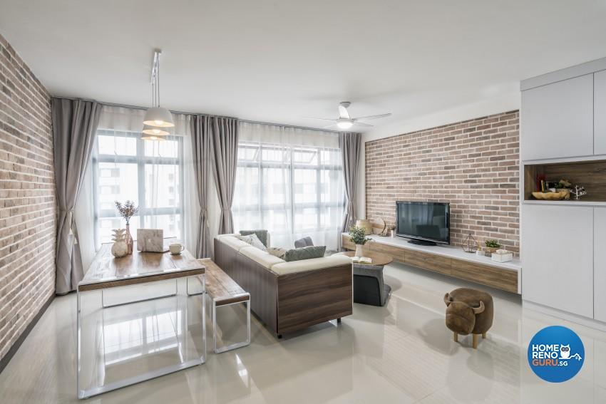 Minimalist Design - Living Room - HDB 4 Room - Design by Met Interior