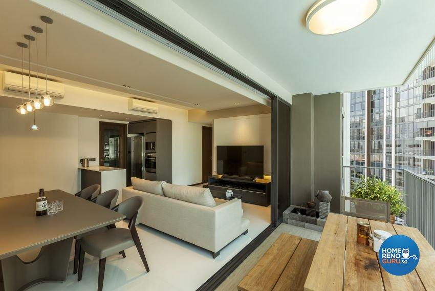 Modern Design - Balcony - Condominium - Design by Meter Cube Interiors Pte Ltd