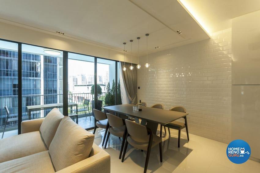 Modern Design - Dining Room - Condominium - Design by Meter Cube Interiors Pte Ltd