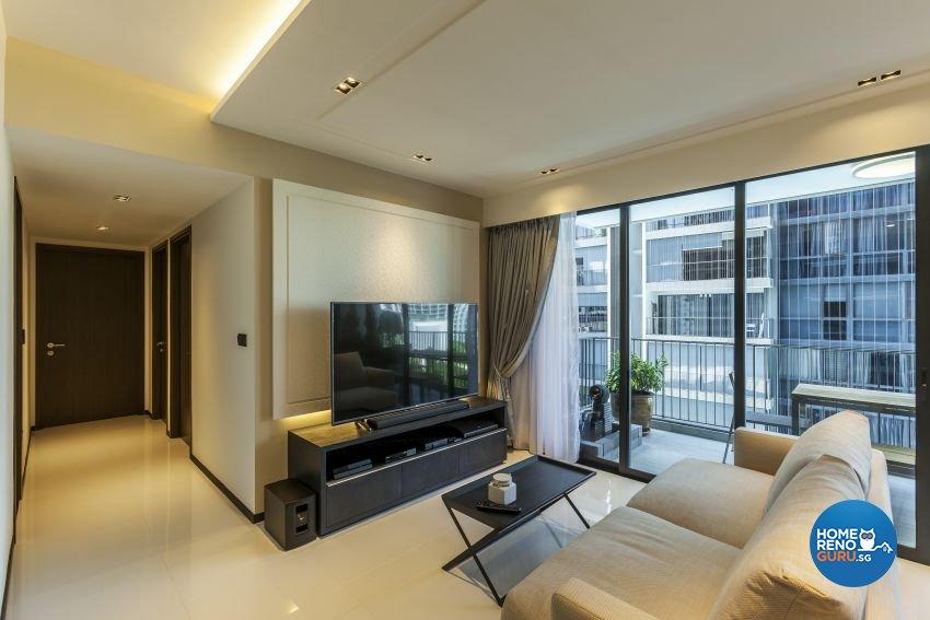 Modern Design - Living Room - Condominium - Design by Meter Cube Interiors Pte Ltd