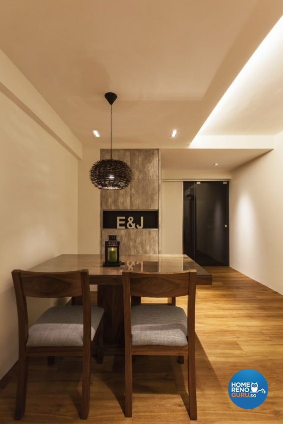 Minimalist, Scandinavian Design - Dining Room - HDB 4 Room - Design by Meter Cube Interiors Pte Ltd