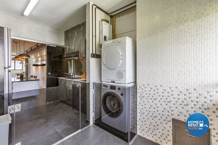 Eclectic, Industrial, Modern Design - Kitchen - HDB 4 Room - Design by Meter Cube Interiors Pte Ltd