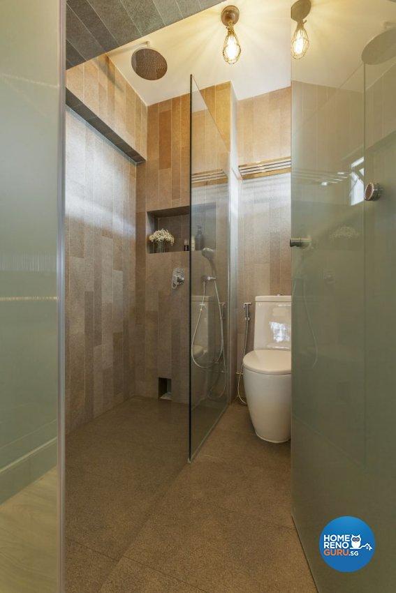 Eclectic, Industrial, Modern Design - Bathroom - HDB 4 Room - Design by Meter Cube Interiors Pte Ltd