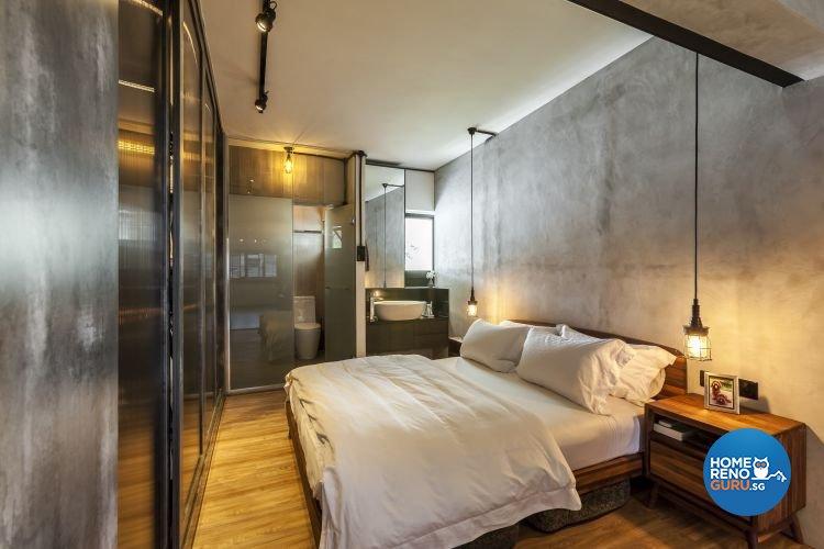Eclectic, Industrial, Modern Design - Bedroom - HDB 4 Room - Design by Meter Cube Interiors Pte Ltd