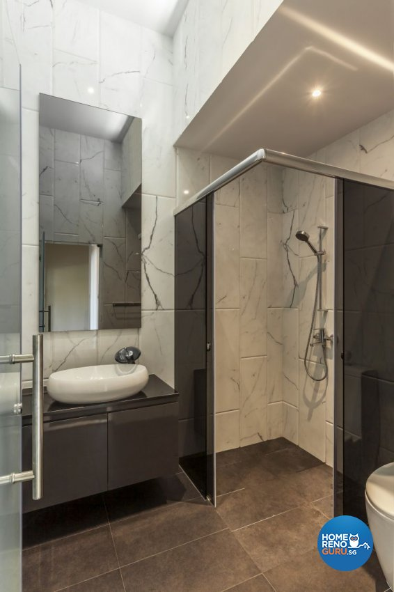 Contemporary, Minimalist, Modern Design - Bathroom - Landed House - Design by Meter Cube Interiors Pte Ltd