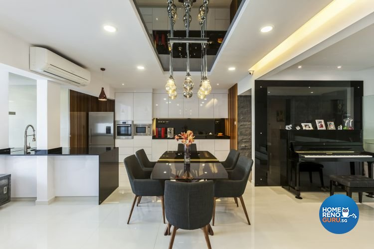 Contemporary, Minimalist, Modern Design - Dining Room - Landed House - Design by Meter Cube Interiors Pte Ltd