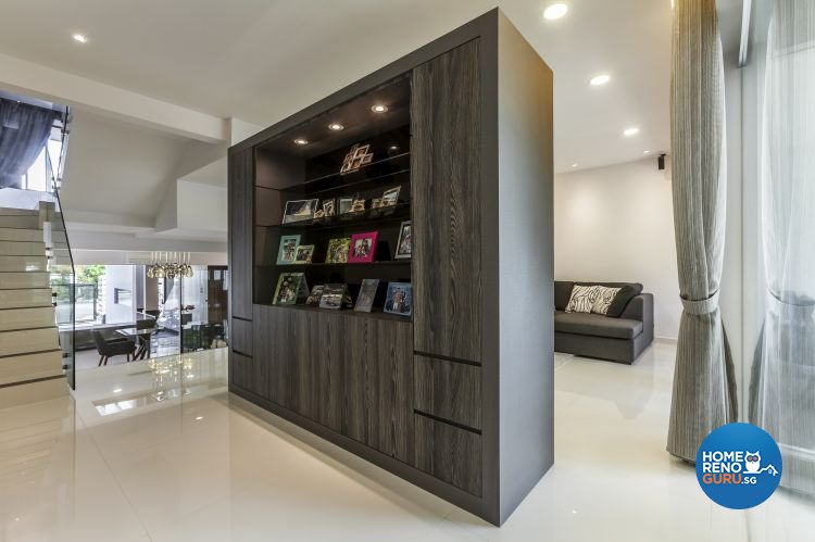 Contemporary, Minimalist, Modern Design - Living Room - Landed House - Design by Meter Cube Interiors Pte Ltd