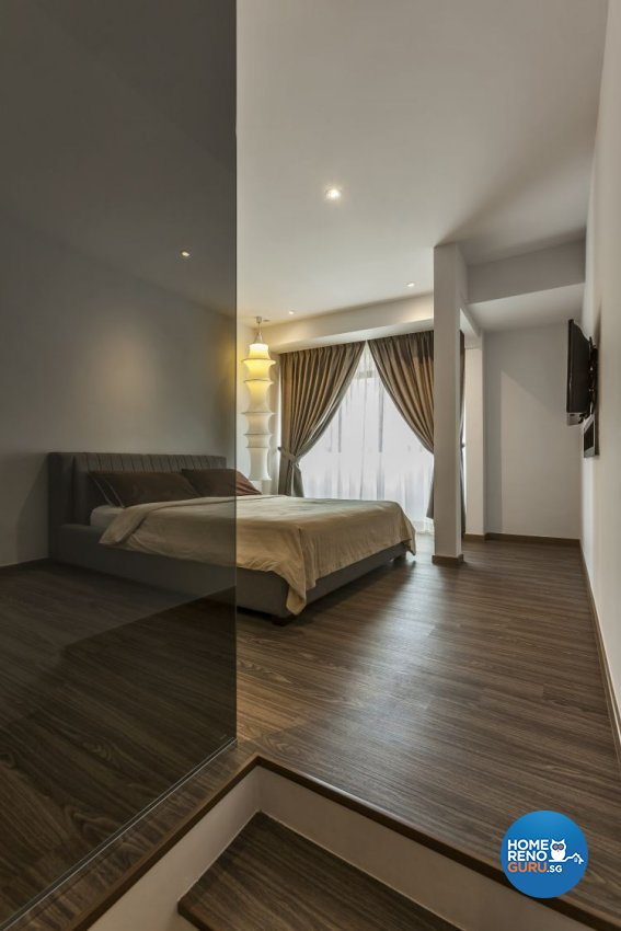 Contemporary, Minimalist, Modern Design - Bedroom - Landed House - Design by Meter Cube Interiors Pte Ltd
