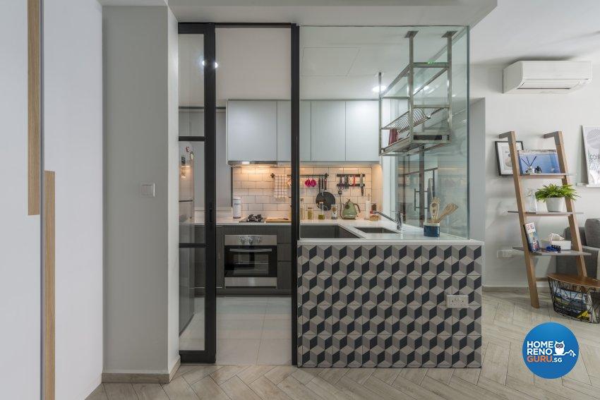 Scandinavian Design - Kitchen - Condominium - Design by Meter Square Pte Ltd