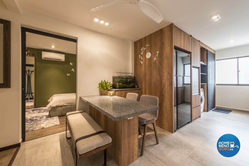 Contemporary Design - Dining Room - HDB 4 Room - Design by Meter Square Pte Ltd