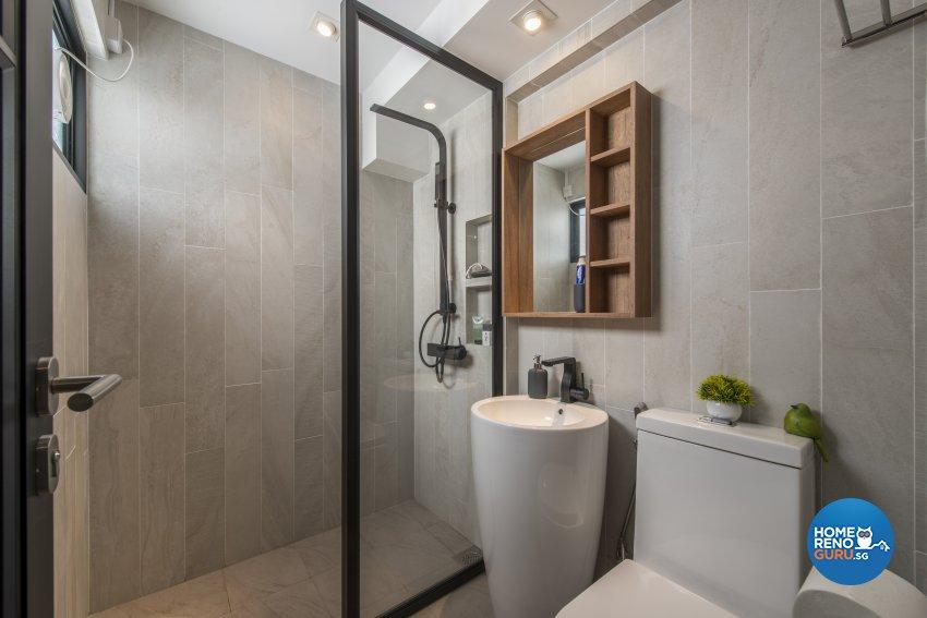 Contemporary Design - Bathroom - HDB 4 Room - Design by Meter Square Pte Ltd
