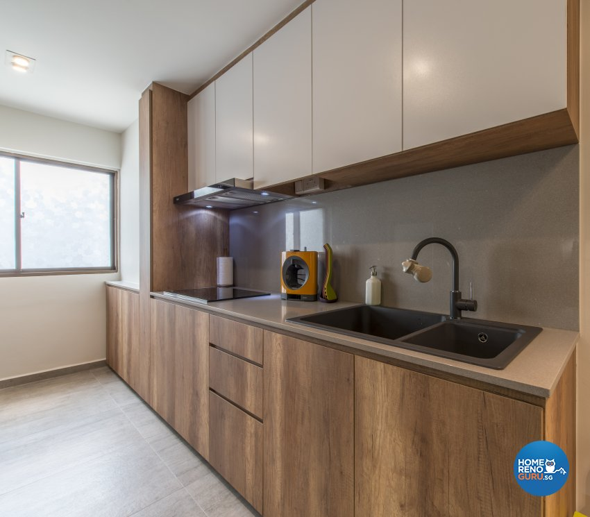 Contemporary Design - Kitchen - HDB 4 Room - Design by Meter Square Pte Ltd