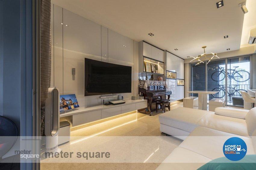 Contemporary, Modern Design - Living Room - Condominium - Design by Meter Square Pte Ltd