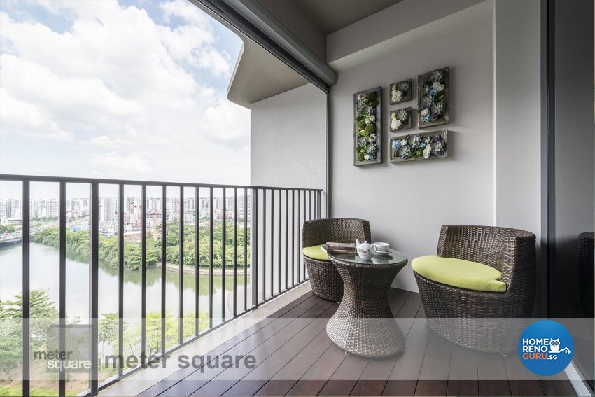 Contemporary, Modern Design - Balcony - Condominium - Design by Meter Square Pte Ltd