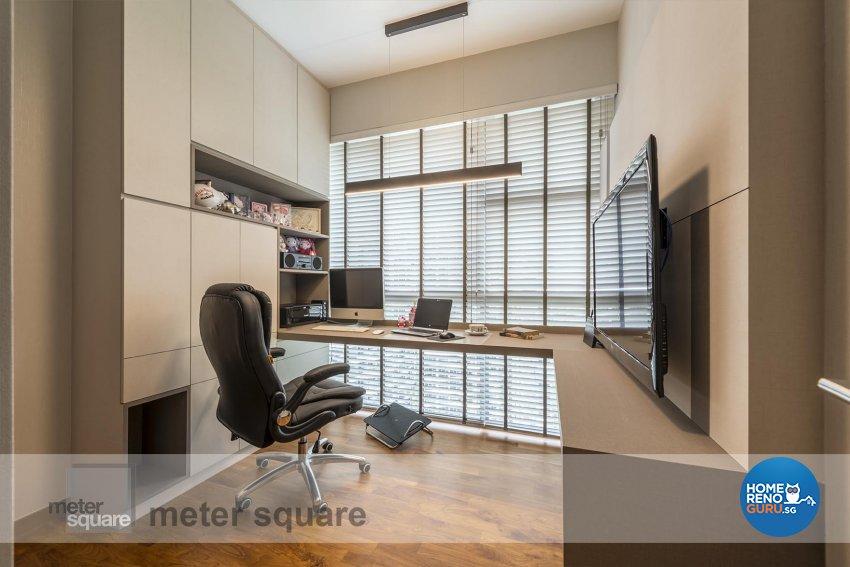 Contemporary, Modern Design - Study Room - Condominium - Design by Meter Square Pte Ltd
