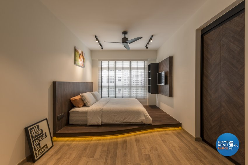 Industrial, Scandinavian Design - Bedroom - HDB 5 Room - Design by Meter Square Pte Ltd
