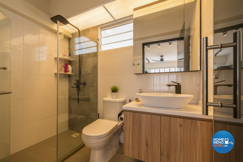 Industrial, Scandinavian Design - Bathroom - HDB 5 Room - Design by Meter Square Pte Ltd