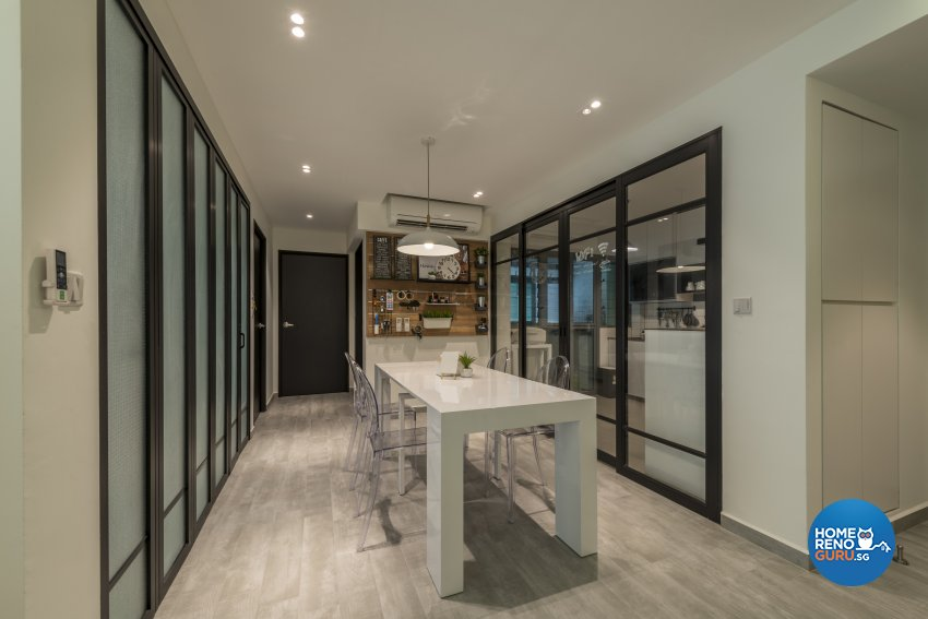 Minimalist, Scandinavian Design - Dining Room - HDB 4 Room - Design by Meter Square Pte Ltd