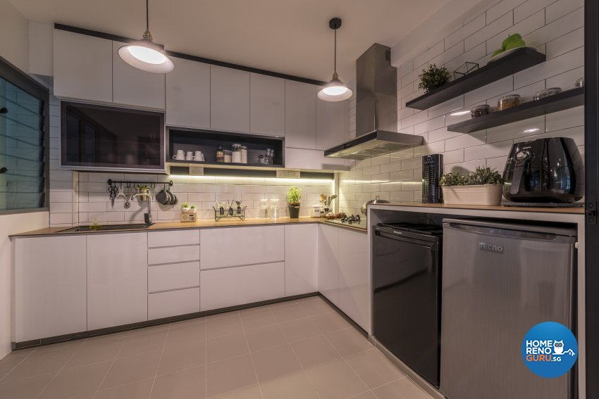 Minimalist, Scandinavian Design - Kitchen - HDB 4 Room - Design by Meter Square Pte Ltd