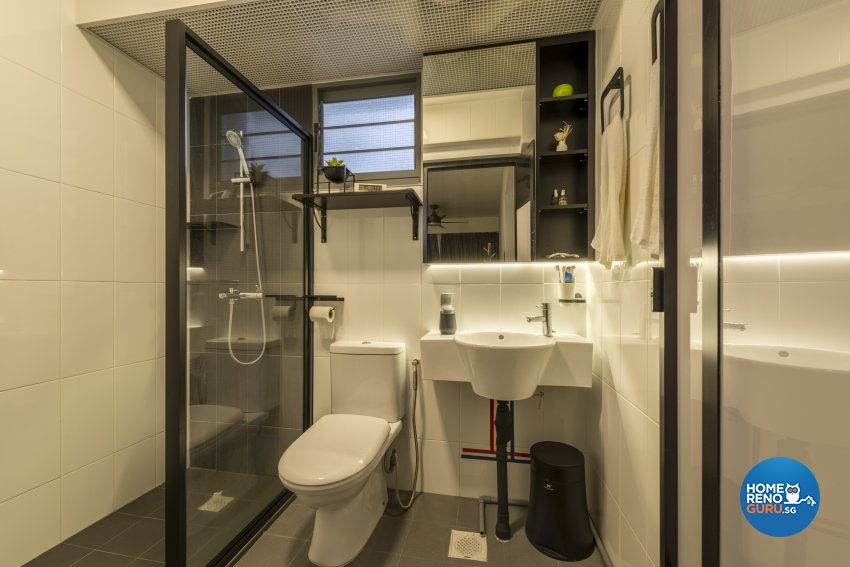 Minimalist, Scandinavian Design - Bathroom - HDB 4 Room - Design by Meter Square Pte Ltd