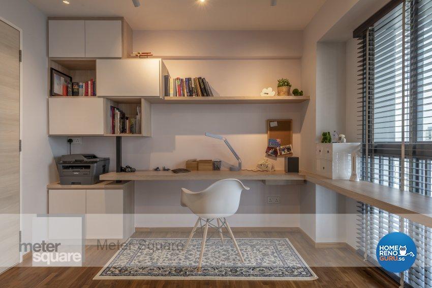 Modern, Scandinavian Design - Study Room - HDB 4 Room - Design by Meter Square Pte Ltd
