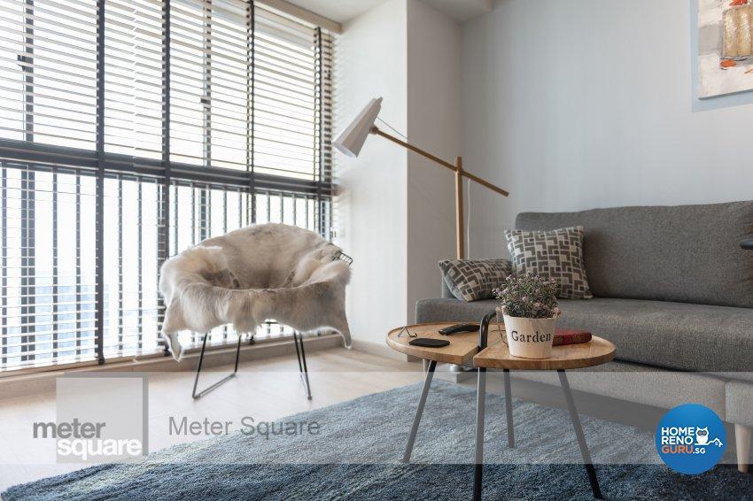 Modern, Scandinavian Design - Living Room - HDB 4 Room - Design by Meter Square Pte Ltd