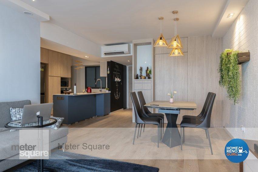 Modern, Scandinavian Design - Kitchen - HDB 4 Room - Design by Meter Square Pte Ltd