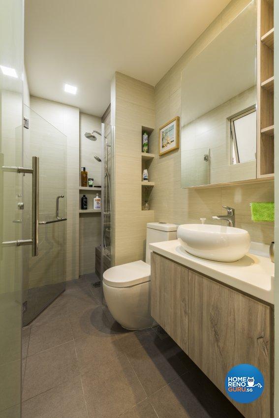 Modern Design - Bathroom - Condominium - Design by Meter Square Pte Ltd