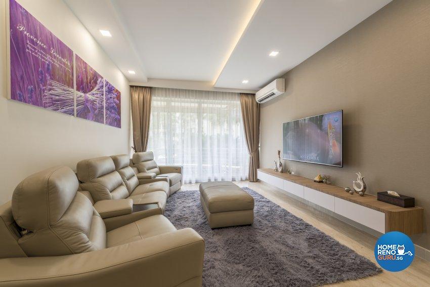 Modern Design - Living Room - Condominium - Design by Meter Square Pte Ltd