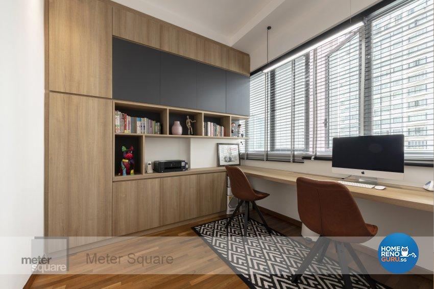 Modern, Scandinavian Design - Study Room - Condominium - Design by Meter Square Pte Ltd