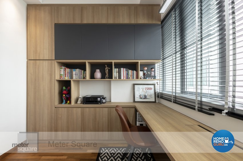 Modern, Scandinavian Design - Study Room - Condominium - Design by Meter Square Pte Ltd