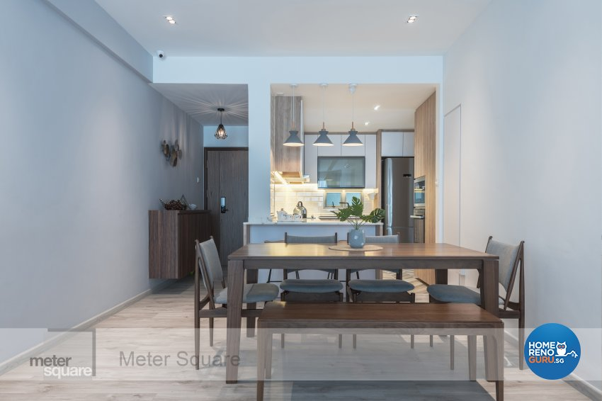 Modern, Scandinavian Design - Dining Room - Condominium - Design by Meter Square Pte Ltd