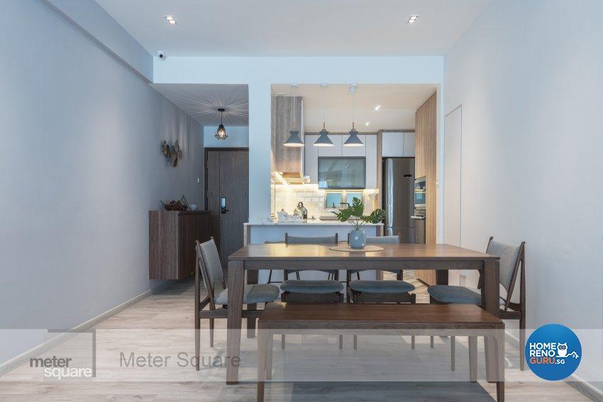 Modern, Scandinavian Design - Dining Room - Condominium - Design by Meter Square Pte Ltd