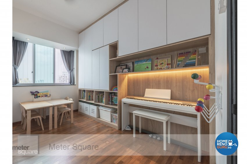 Modern, Scandinavian Design - Bedroom - Condominium - Design by Meter Square Pte Ltd