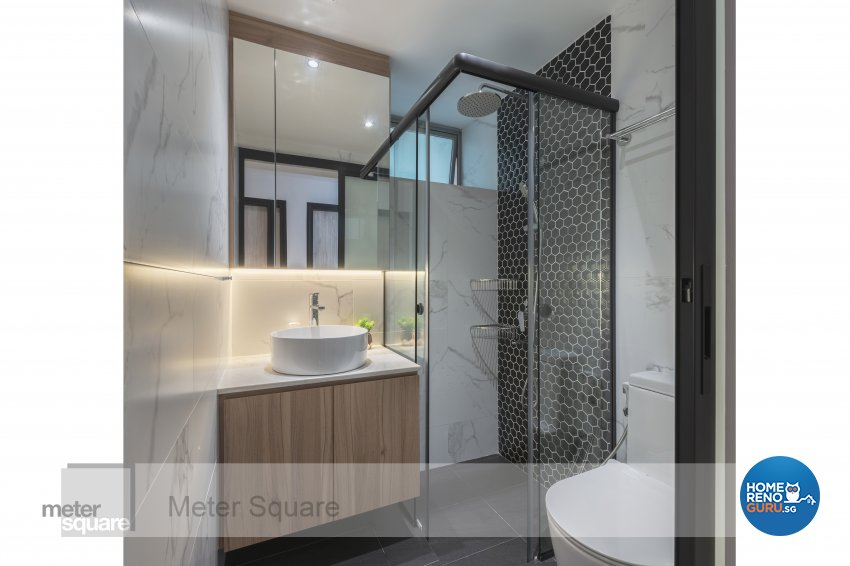 Modern, Scandinavian Design - Bathroom - Condominium - Design by Meter Square Pte Ltd