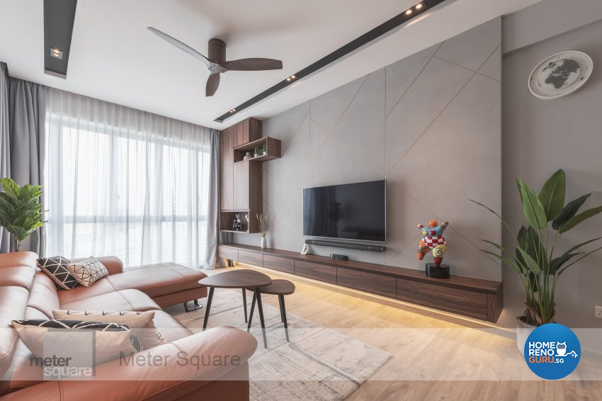 Modern, Scandinavian Design - Living Room - Condominium - Design by Meter Square Pte Ltd