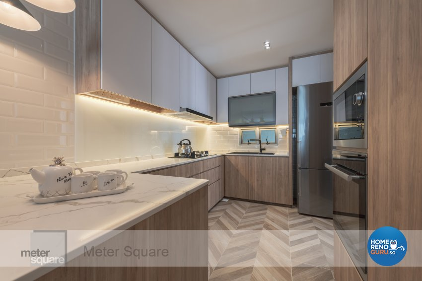 Modern, Scandinavian Design - Kitchen - Condominium - Design by Meter Square Pte Ltd