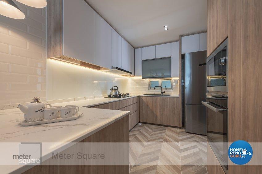 Modern, Scandinavian Design - Kitchen - Condominium - Design by Meter Square Pte Ltd
