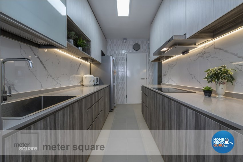 Contemporary, Minimalist Design - Kitchen - HDB 5 Room - Design by Meter Square Pte Ltd