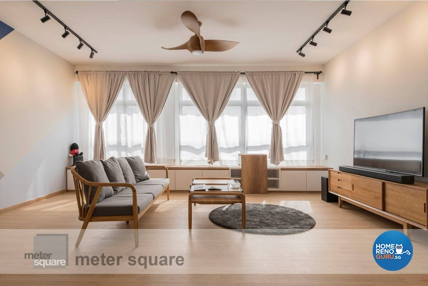 Minimalist, Scandinavian Design - Living Room - HDB 5 Room - Design by Meter Square Pte Ltd