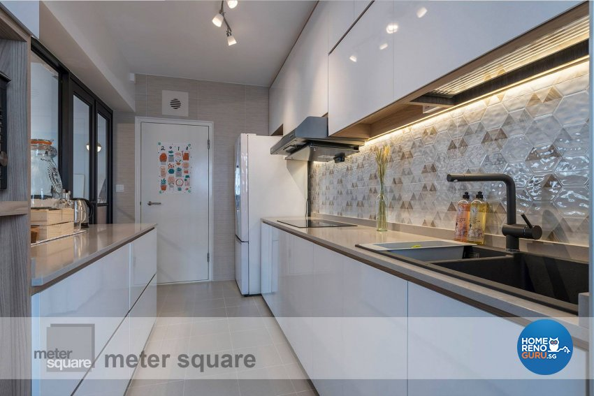 Minimalist, Scandinavian Design - Kitchen - HDB 5 Room - Design by Meter Square Pte Ltd