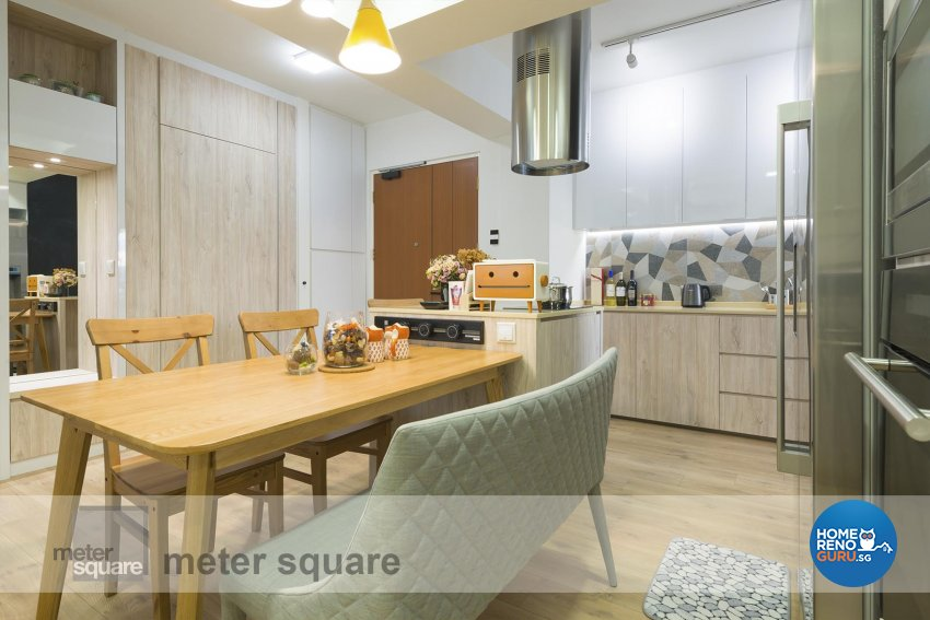 Scandinavian Design - Kitchen - HDB 4 Room - Design by Meter Square Pte Ltd