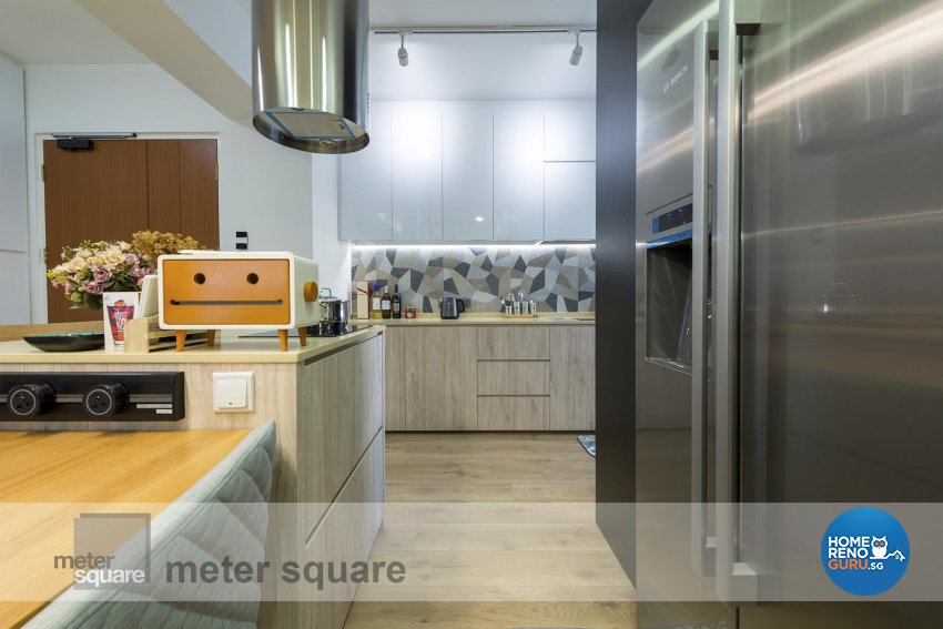Scandinavian Design - Kitchen - HDB 4 Room - Design by Meter Square Pte Ltd
