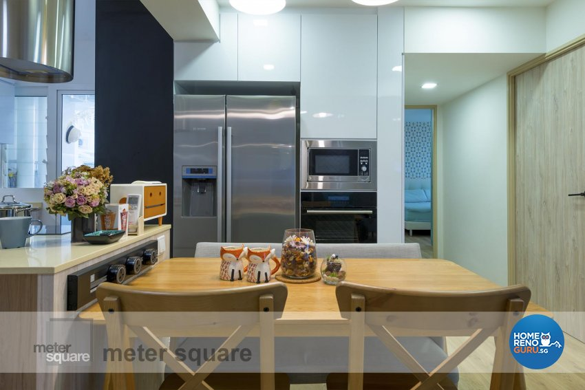 Scandinavian Design - Dining Room - HDB 4 Room - Design by Meter Square Pte Ltd