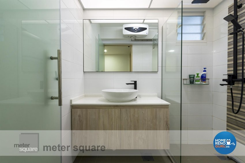 Scandinavian Design - Bathroom - HDB 4 Room - Design by Meter Square Pte Ltd