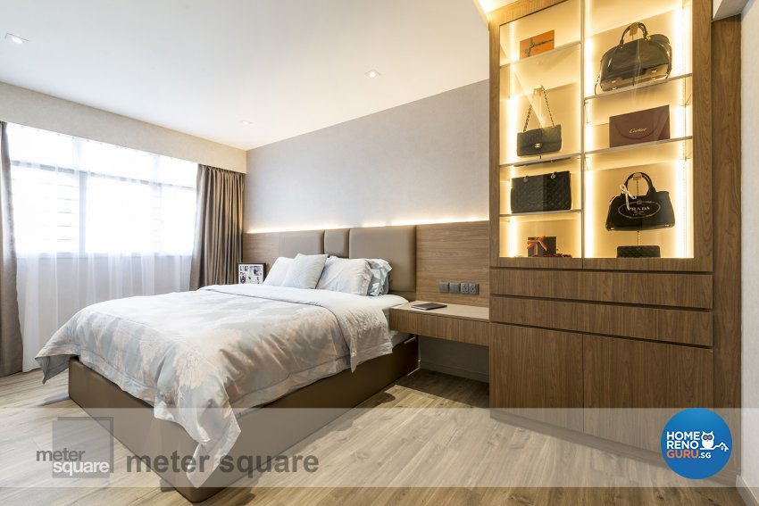 Contemporary, Minimalist, Modern Design - Bedroom - HDB 5 Room - Design by Meter Square Pte Ltd