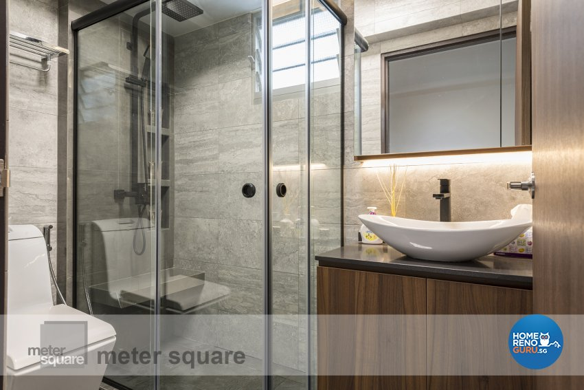 Contemporary, Minimalist, Modern Design - Bathroom - HDB 5 Room - Design by Meter Square Pte Ltd