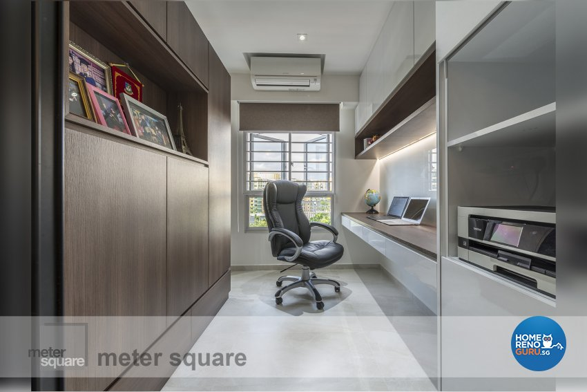 Contemporary, Minimalist, Modern Design - Study Room - HDB 5 Room - Design by Meter Square Pte Ltd